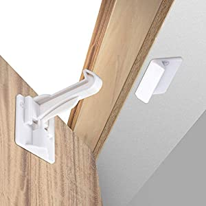 Upgraded Invisible Baby Proofing Cabinet Latch Locks (10 Pack) – No Drilling or Tools Required for Installation, Works…