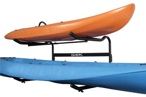 Stoneman Sports G-100 Glacik Freestanding C-Deck Double Kayak and SUP Storage Rack, Single Sided, Black Finish by Stoneman Sports