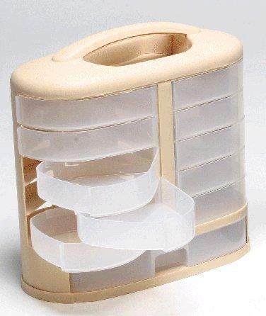 Pioneer 97824-02 Eleven See Through Storage Bins, Drawer, Storage & Organization Cabinet, Hardware, Sewing, Craft, Scrapbooking Cabinet, Handle, Wall - Cabinet Craft Storage
