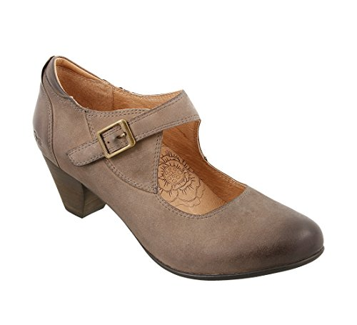 Taos Schoeisel Vrouwen Studio Mary Jane Taupe Geolied