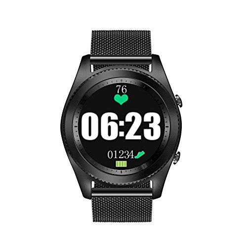 DTNO.I Smart Watch GPS Smart Watch Sports Smart Watch Wearable Devices Multifunction Bracelet Compatible with Android iOS (steel) by DTNO.I
