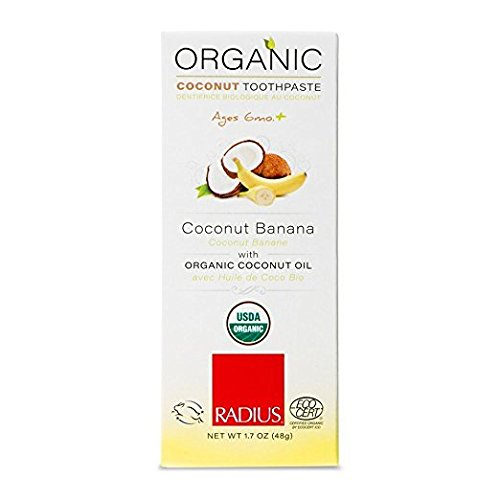 Price comparison product image Radius Organic Children's Toothpaste Coconut Banana, 1.7 Ounce