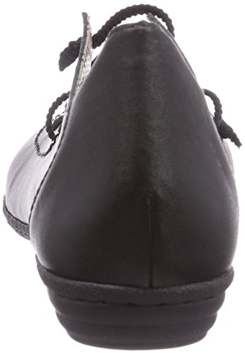 Rieker 53992 - Bailarinas de cuero para mujer negro - Schwarz (schwarz / 00)
