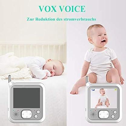 EYSAFT Babyphone mit Kamera Video Baby Monitor 3.2 Zoll Babyfon mit Talk Back und Temperaturüberwachung,Nachtsichtkamera,Schlaflieder,Nachtsicht, Intercom-Funktion VOX 3