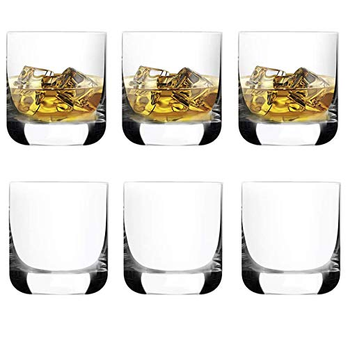 [6-Pack,9.6 Oz]DESIGN•MASTER -Premium Whiskey Glasses, Rock Style Old Fashioned Glasses for Scotch, Bourbon, Cocktails…