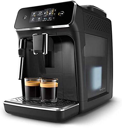 Dsnmm Cafetera Máquinas de café Completamente automático Italiano moler el café de la máquina con Pantalla táctil de visualización con el Sistema Batidor de Leche con un Solo botón Cappuccino-Bblack: Amazon.es: Hogar