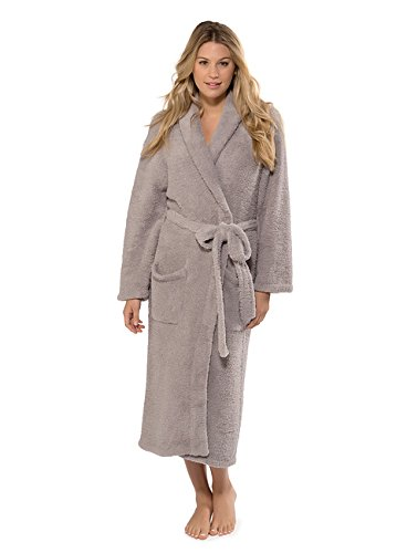 Barefoot Dreams Womens CozyChic Robe 1 -Dove Grey