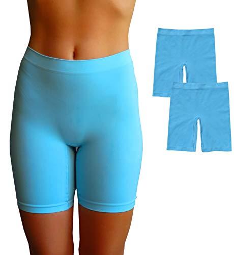 EVARI Women's Seamless Slip Shorts Ultra Soft Boy Shorts Panties (Blue, - Panty Blue Boys