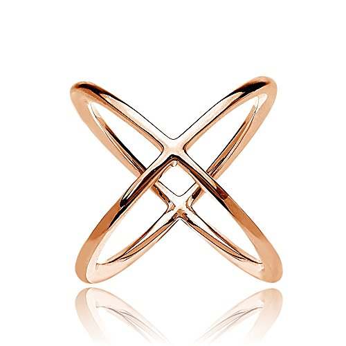 Sterling Silver Polished Criss Cross Ring product image