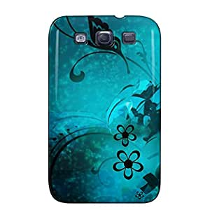 Blue Butterfly Abstract Fantasy Navy Blue Butterfly Abstract Protective Hard Case For Sumsang Galaxy S3
