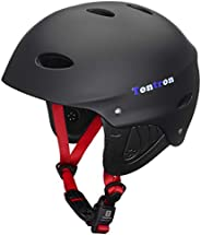 Tontron Adult Kayaking Surfing Helmet with Magnetic Buckle