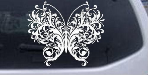 Swirl Butterfly Butterflies Car Window Wall Laptop