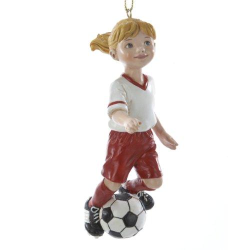 Kurt Adler 4-Inch Soccer Girl Christmas Ornament