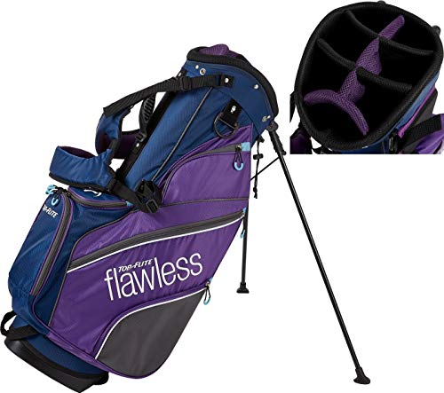 2019 Flight Bags - 2019 Top-Flite Womens Flawless Golf Stand Bag 7-Way Top 7 Pockets Beverage Cooling Pocket (Navy/Purple)