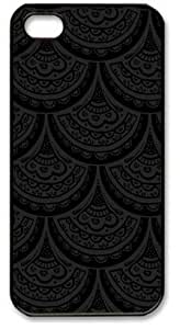 Iphone 5 5s PC Hard Shell Case Fancy Scales Black Skin by Sallylotus