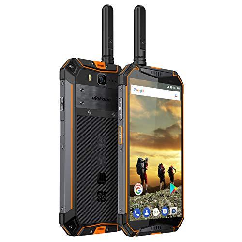 Ulefone Armor 3T Rugged Cell Phones Unlocked, IP68 Walkie Talkie Waterproof Smartphone, 10300mAh Big Battery, 5.7 Inch, 4GB+64GB,Android 8.1 4G Dual Sim Compass, NFC, Shockproof, Dustproof (Orange)