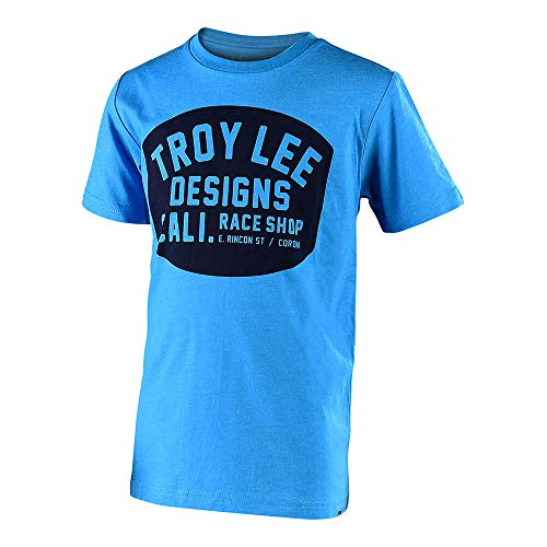 Troy Lee Designs Youth Kids Blockworks T-Shirt (Small, Heather Turquoise) ()