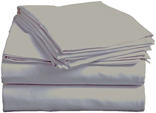 Bed Sheet Set-Deep Pocket Comfort-Affordable Quality-4 Piece, Poly-Cotton Blend, Hypoallergenic, Wrinkle, Fade and Stain Resistant-300TC by Pacific Linens (Cal King Size, Grey) - 300tc King Sheet Set