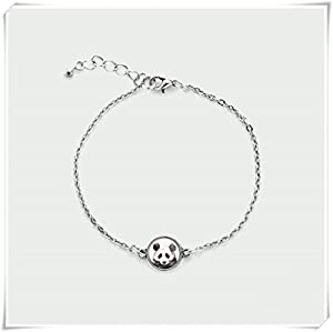 Mini PANDA bracelet,Dome glass jewelry, Delicacy jewellery?pure handmade