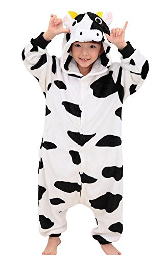 Tonwhar Children's Halloween Costumes Kids Kigurumi Onesie Animal Cosplay (95(height:41.3