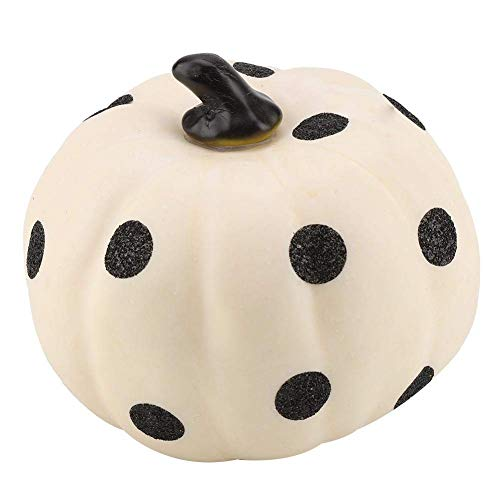 Easyflower Home Decoration Collection Ideas Crafts Decor Halloween Dots Pumpkin Decorations for Autumn Fall Ornament Tabletop Home Decor Accent, 5.1