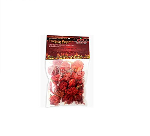 0.25 Ounce Pods (Dried Trinidad Moruga Scorpion Pepper Pods, .25 Ounce)