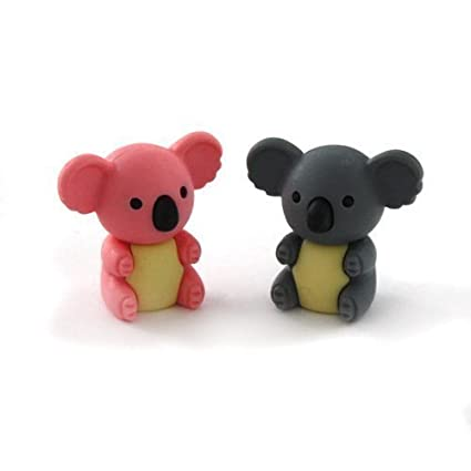 Iwako japoneses Borradores - 2 Colores del oso de koala (2 piezas)