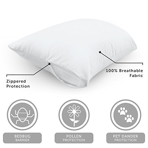 AllerEase 100 Cotton Allergy Pillow Protectors