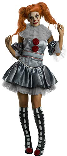 It Costume - Rubie's Movie Women's Deluxe Pennywise Costume,