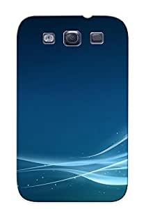 Catenaryoi Top Quality Rugged Glowing Blue Waves Case Cover Deisgn For Galaxy S3 For Lovers