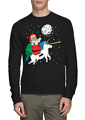 Long Sleeve Santa Riding Unicorn