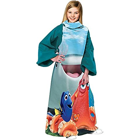 Kids Youth Fleece Comfy 48x48 Throw-Style Robe Blanket with Sleeves (Disney Pixars Finding Dory)