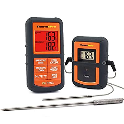 ThermoPro TP-06S Digital Meat Probe Cooking Thermometer for Grilling, BBQ, Oven, Smoker with Timer Temperature Alarm