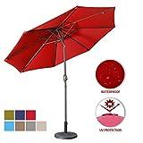 Best Patio Umbrellas - Aok Garden 9 Feet Outdoor Market Patio Umbrella Review