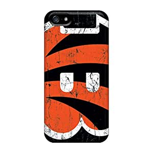 Bumper Hard Phone Covers For Apple Iphone 5/5s (ZNY9251wBRc) Allow Personal Design High-definition Cincinnati Bengals Pattern