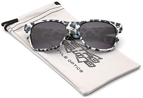 Children Colorful Animal Print Sunglasses Age 6-14 - White &