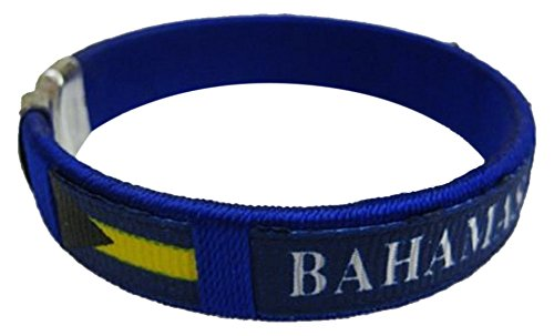Flag C Bracelets Wristbands - America (1-Pack, Country: Bahamas) (Country Flag Bahamas)