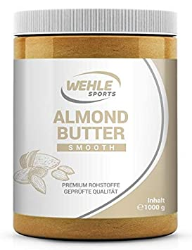 Mantequilla de Almendras 1 kg – crema de almendras Premium – Wehle Sports Mantequilla De Almendras