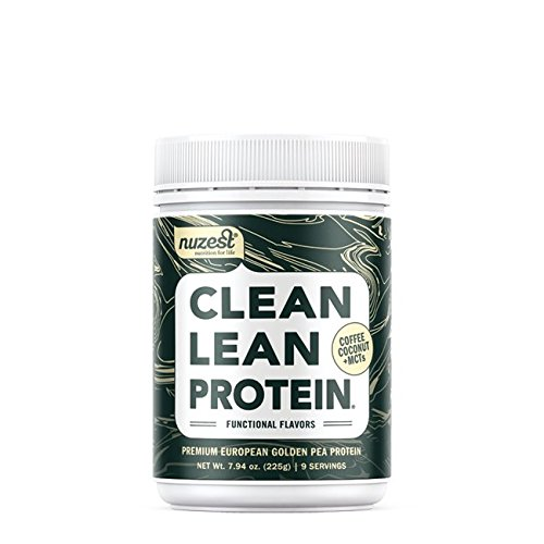 Nuzest Clean Lean Protein Functionals - Premium Vegan Protein Powder, European Golden Pea Protein, Dairy Free, Gluten Free, GMO Free, Naturally Sweetened, Coffee Coconut & MCTs, 9 SRV, 7.9 oz