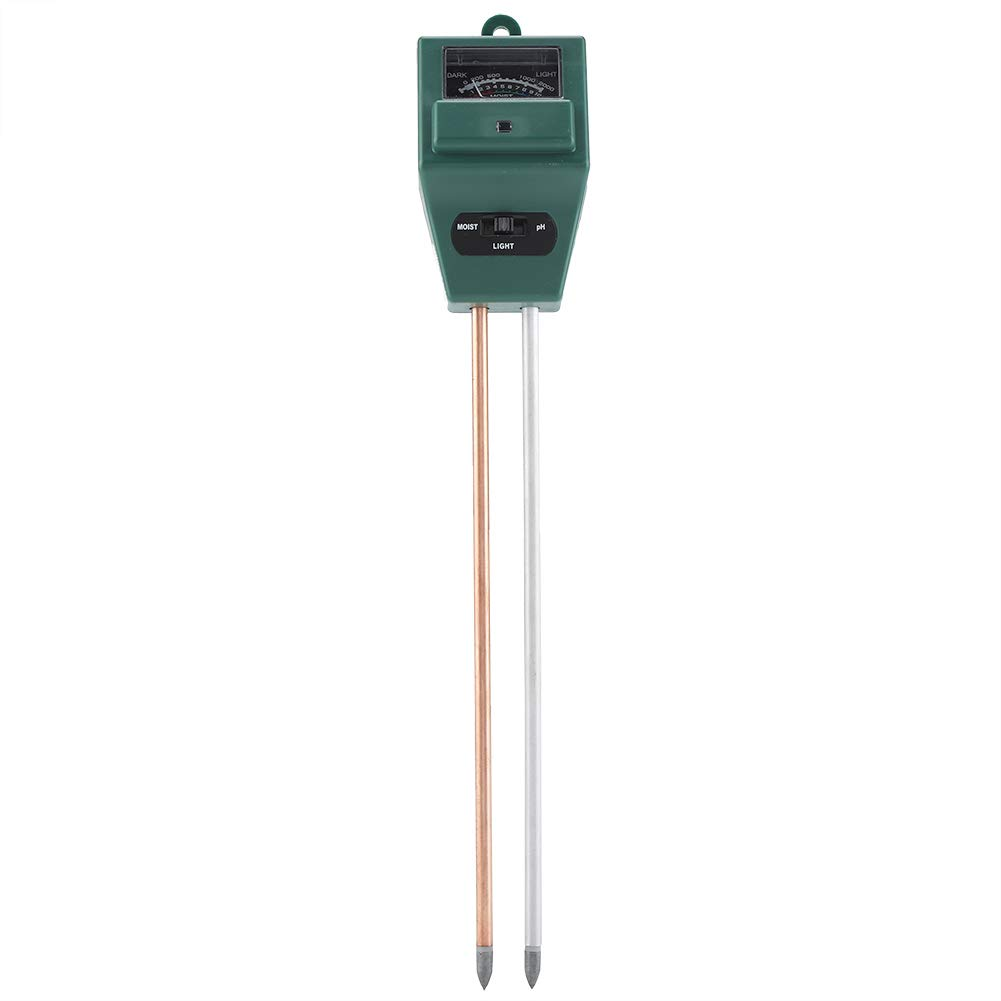 GLOGLOW 3 in 1 Soil Tester Soil Hygrometer PH Water Moisture Temperature Sunlight Humidity Plant Meter Acidity Analyzer Detector Reader Probe Sensor Garden Lawn Flower