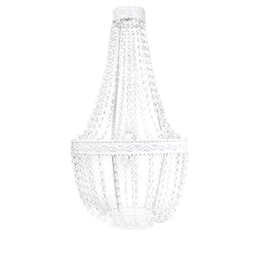 Tadpoles Beaded Chandelier, White Diamond
