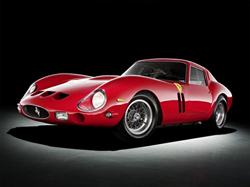 - Ferrari 250 GTO with Fender Vents (1963) Car Print on 10 Mil Archival Satin Paper Red Front Side Studio View 16