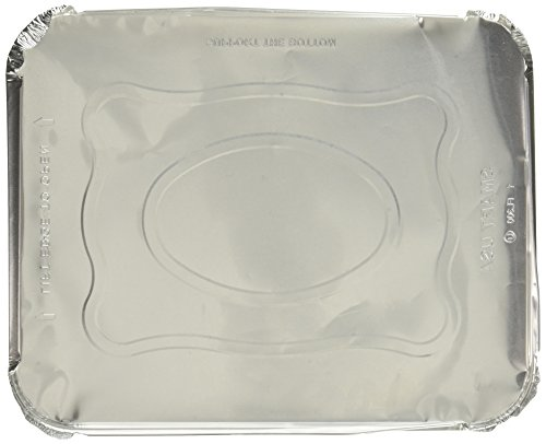 Aluminum Foil Lids for Aluminum Steam Table Pans, Fits Half-Size Pans (1 Bags of 20) by A World Of Deals (Image #1)