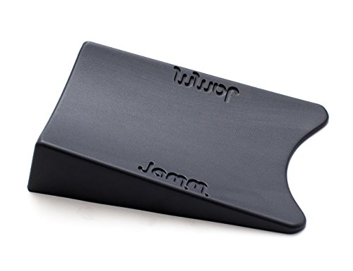 Top Rated Jamm Door Stopper. Patented Door Stop Design Holds Doors in BOTH Directions. Outperforms other Door Stops and Decorative Door Wedges. Premium Non Rubber Hardware - Dark Grey 1-Pk (Size 1) by Jamm