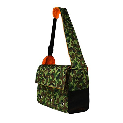 Pet Carrier Backpack Shoulder Bag for Dogs and Cats Camouflage Washable Small Pet Travel Carrier Tote Bag Soft Padded Purse Shoulder Bag Hands-Free Pet Carrier Single Shoulder Carrier Bag (Dog Carrier Camouflage)