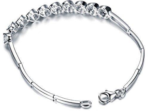 Gowe Designer 1.2CT sertie de diamants SI/I-j Or blanc 18K Chaîne Bracelet Bijoux Bracelets Braclets Bracelet