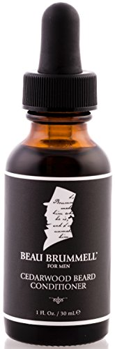 Beau Brummell Beard Oil with Organic Ingredients and Cedarwood by Perfect Beard Conditioner for Beard Growth | 1 oz Bottle with Perfect Pour Dropper | Handmade Beard Care Products Made in the USA