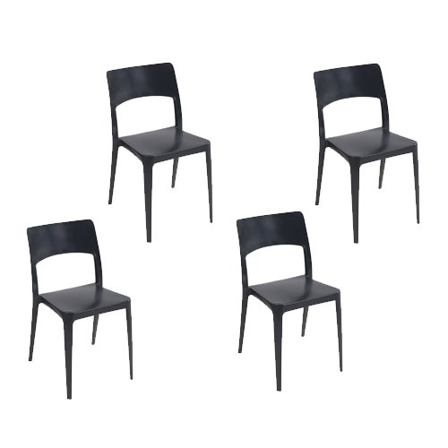 Tensai Vanity Chair in Black - Set of 4 from Tensai