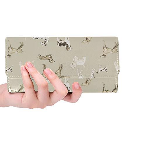 Unique Custom Nice Dog Wallpaper For Walls Desktop Wallpaper Hd Women Trifold Wallet Long Purse Credit Card Holder Case Handbag