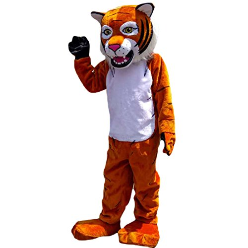 Langteng Tiger Wildcat Cartoon Mascot Costume Real Picture 15-20days delivery Brand ()